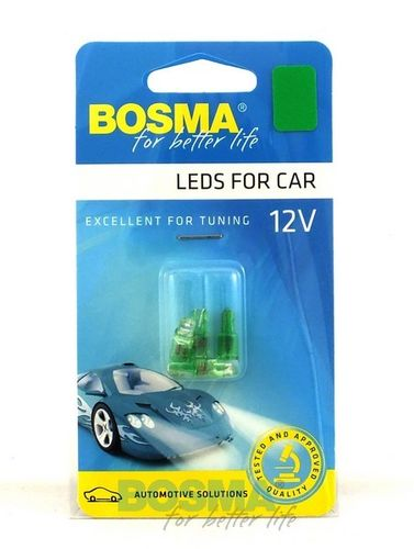 T 5 LED GROEN GREEN 12V 3974 P/SET 4ST