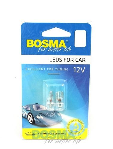 T10 1XLED WIDE VIEUWING WIT 12V BOSMA AUTOLAMP