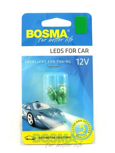 T10 1XLED WIDE VIEUWING GROEN 12V BOSMA AUTOLAMP