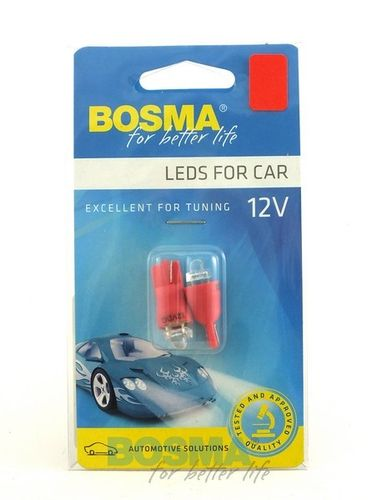 T10 12V 1XLED DIAMOND RED BOSMA