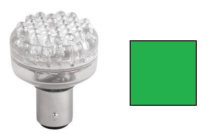 BAY15D 24XLED 12V GROEN/GREEN