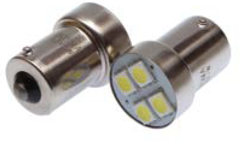 BL 12V 4xSMD5050 3048 LED BA15S WHITE (2pcs)
