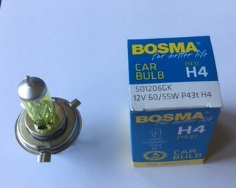 H4 60/55W GEEL YELLOW  P43t 12V LAMP BULB